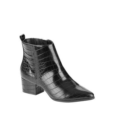 Scoop - Scoop Isla Low Heel Ankle Bootie Women's - Walmart.com black