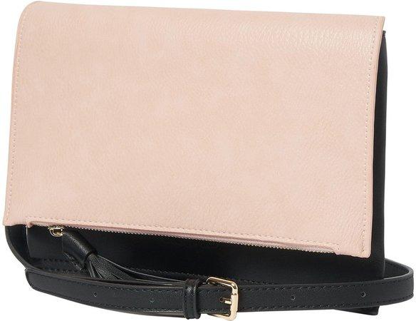 Sheer Luxe Vegan Leather Envelope Clutch