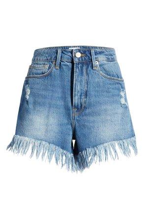 Bombshell Chewed Denim Shorts | Nordstrom