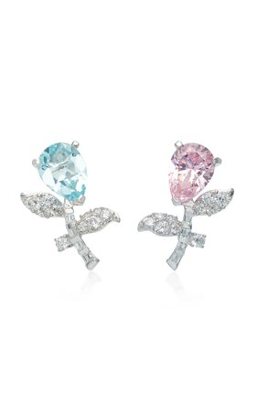 Exclusive Rose Blue Tulip Earrings by Anabela Chan | Moda Operandi