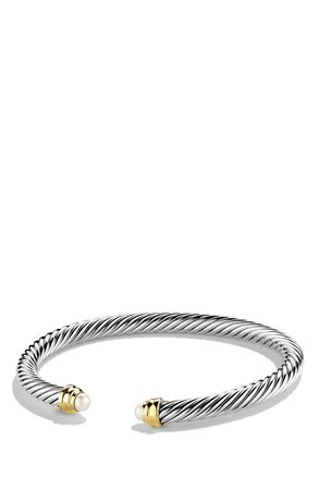 Cable Classics Bracelet with Semiprecious Stones & 14K Gold, 5mm | Nordstrom