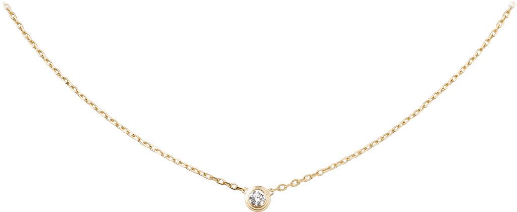 CRB7215500 - Diamants Légers necklace, LM - Yellow gold, diamond - Cartier