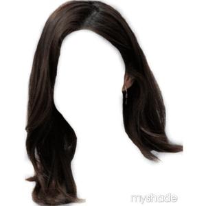Short Hair Dark Brown BLACK PNG