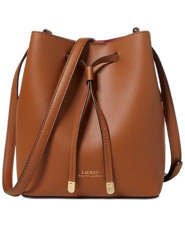 Ralph Lauren Dryden Debby II Mini Leather Drawstring Bag