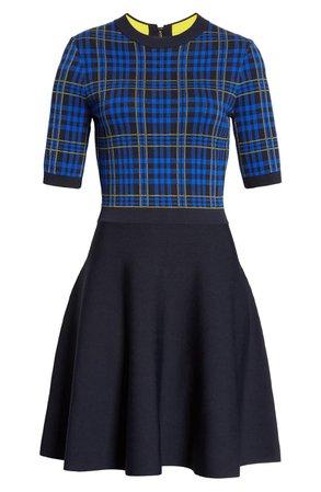 Ted Baker London Nilar Check Skater Dress | Nordstrom