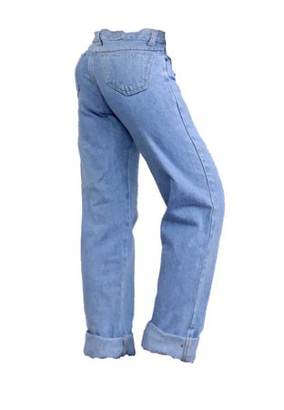 cuffed straight peg jeans