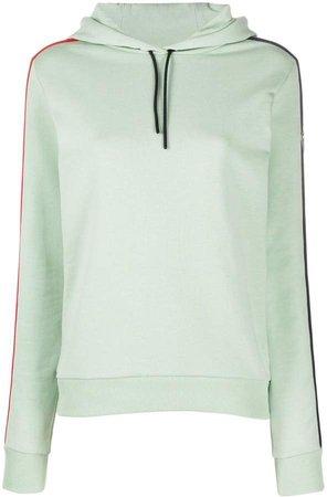 Striped-Side Hooded Sweatshirt