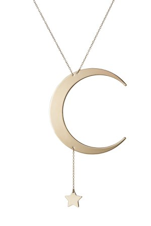 Moon and Star Necklace Gr. One Size