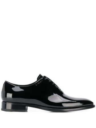 Givenchy Patent Leather Oxford Shoes BH101NH0JJ Black | Farfetch