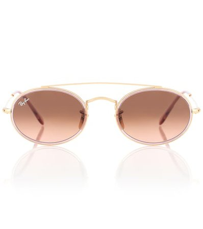 Oval Double Bridge sunglasses