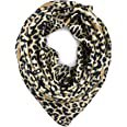 YOUR SMILE Silk Like Leopard Print Scarf Women's Fashion Pattern Large Square Satin Headscarf Head Dress at Amazon Women's Clothing store