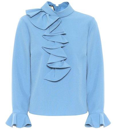 Gucci - Ruffled blouse | Mytheresa