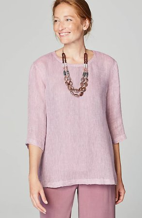 Pure Jill Linen Airy-Weave Top | JJill