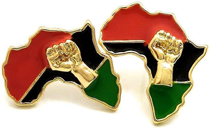 Africa Power Fist Earrings