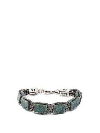 Green marble & sterling silver bracelet   Emanuele Bicocchi   MATCHESFASHION.COM UK