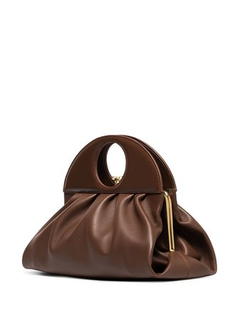 Shop brown USISI SISTER Lucas leather shoulder bag with Express Delivery - Farfetch