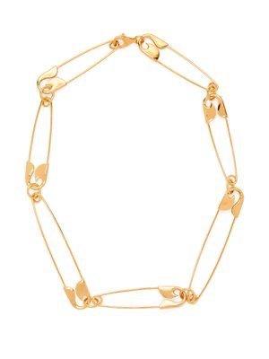 Balenciaga Safety Pin Necklace