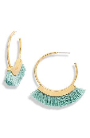 Madewell Fringe Hoop Earrings | Nordstrom
