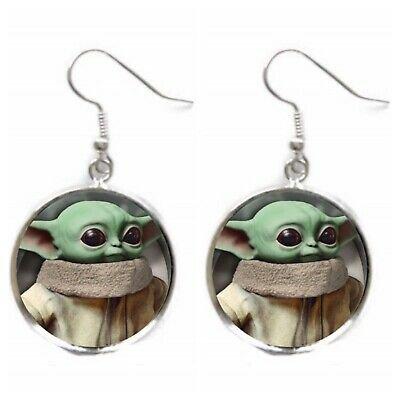 BABY YODA Earrings Star Wars Mandelorian Rise Skywalker Earrings Fan Jewelry | eBay