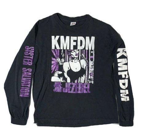 1995 Vintage KMFDM XL Long-Sleeve Juke-Joint Jezebel tour T-Shirt Anvil RARE!   eBay