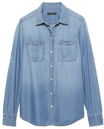 Dillon Classic-Fit Chambray Utility Shirt