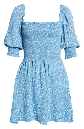 Reformation Elle Smocked Minidress | Nordstrom