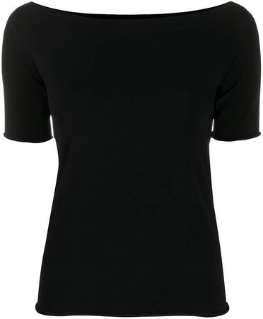 scoop neck knitted top
