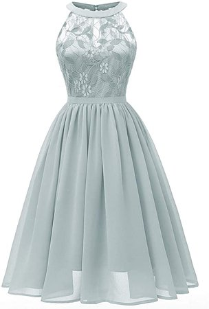 Lrady Women's Lace Chiffon A-line Long Maxi Dress Evening Wedding Bridesmaid Dress at Amazon Women's Clothing store