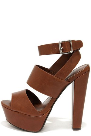 Brown Platform Sandal Heels
