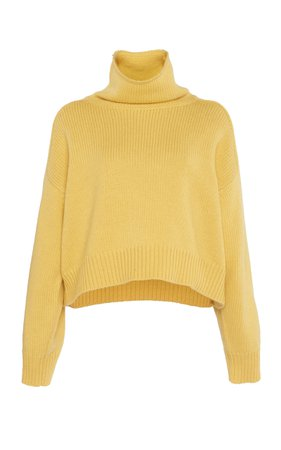Loulou Studio Procida Wool-Blend Turtleneck Sweater Size: S