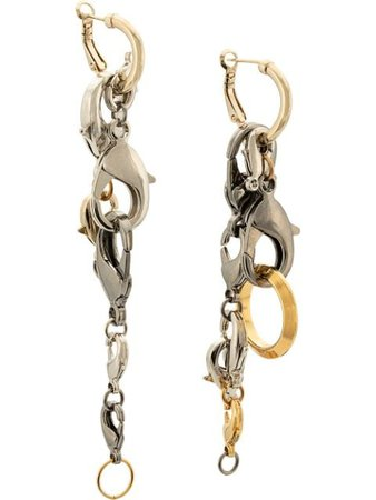 Proenza Schouler Chain Earrings silver J00147H022Y - Farfetch