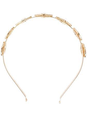 Rosantica crystal-embellished pearl-appliqué Headband - Farfetch
