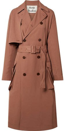Olicia Twill Trench Coat - Antique rose