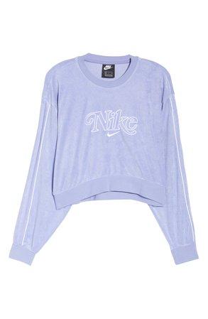 Nike Sportswear Retro Femme Crewneck Crop Sweatshirt | Nordstrom