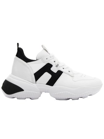 Hogan White Leather Interaction Sneakers