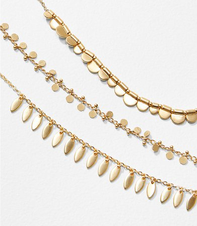 Petaled Layered Necklace | LOFT