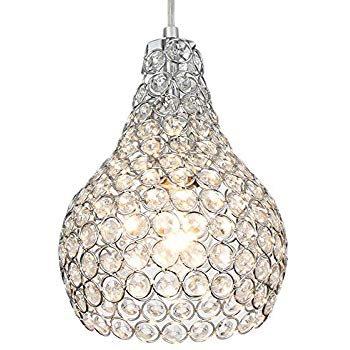 DINGGU 3 Lights Modern Crystal Ball Pendant Light Fixture Flush Mounted Ceiling Chandelier - - Amazon.com