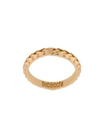 Gold Emanuele Bicocchi Logo Engraved Ring | Farfetch.com
