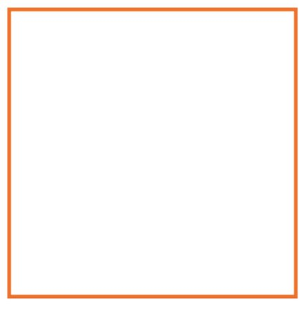 orange border frame square