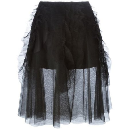 Rochas Layered Tulle Skirt