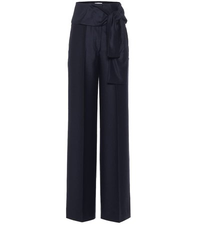 Victoria Victoria Beckham, High-rise wide-leg wool pants