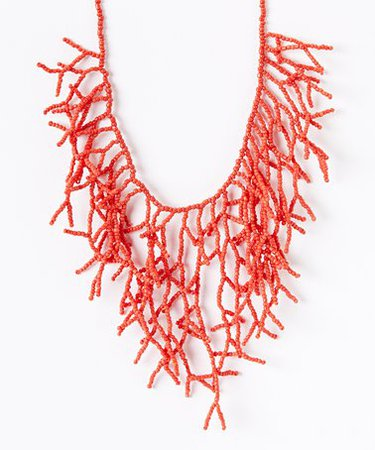 ZAD Coral Branch Seed Bead Necklace | zulily