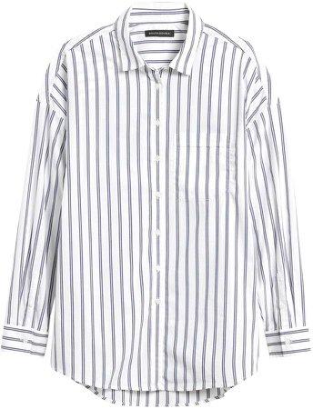 Petite Oversized Luxe Poplin Shirt