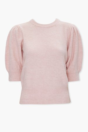 Sweater-Knit Puff-Sleeve Top | Forever 21
