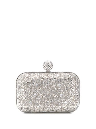 Jimmy Choo Cloud Crystal-Embellished Clutch CLOUDHQX Silver | Farfetch