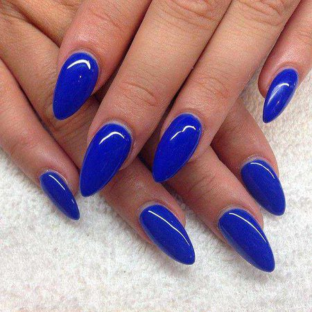 dark blue almond nails - Google Search