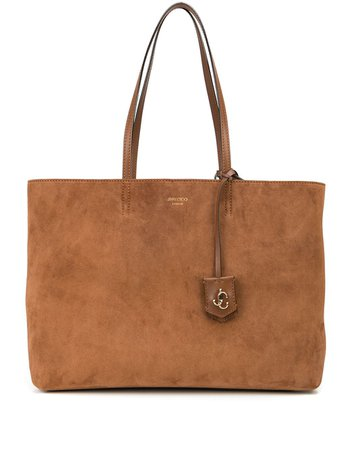 Shop Jimmy Choo suede-leather tote-bag with Express Delivery - FARFETCH