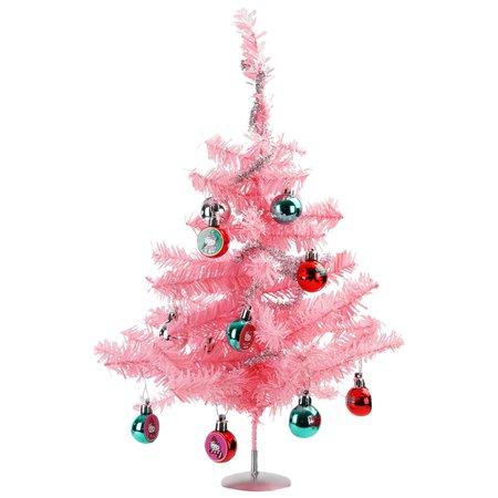 "15"" Hello Kitty Tinsel Christmas Tree Set Including Tree, Garland, and Ornaments - Walmart.com - Walmart.com"
