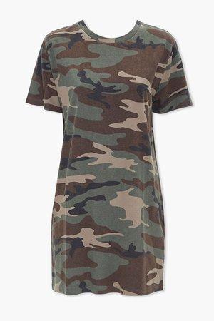 Camo Print T-Shirt Dress | Forever 21