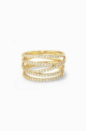 Gold Pavé Stackable Ring | Stella & Dot